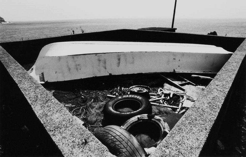 An abandoned boat, Nakanogo district.