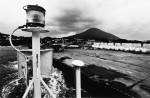 Mt. Hachijo Fuji from ferryboat.