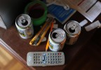 LI Chuan-hua uses empty beer cans as ashtray.