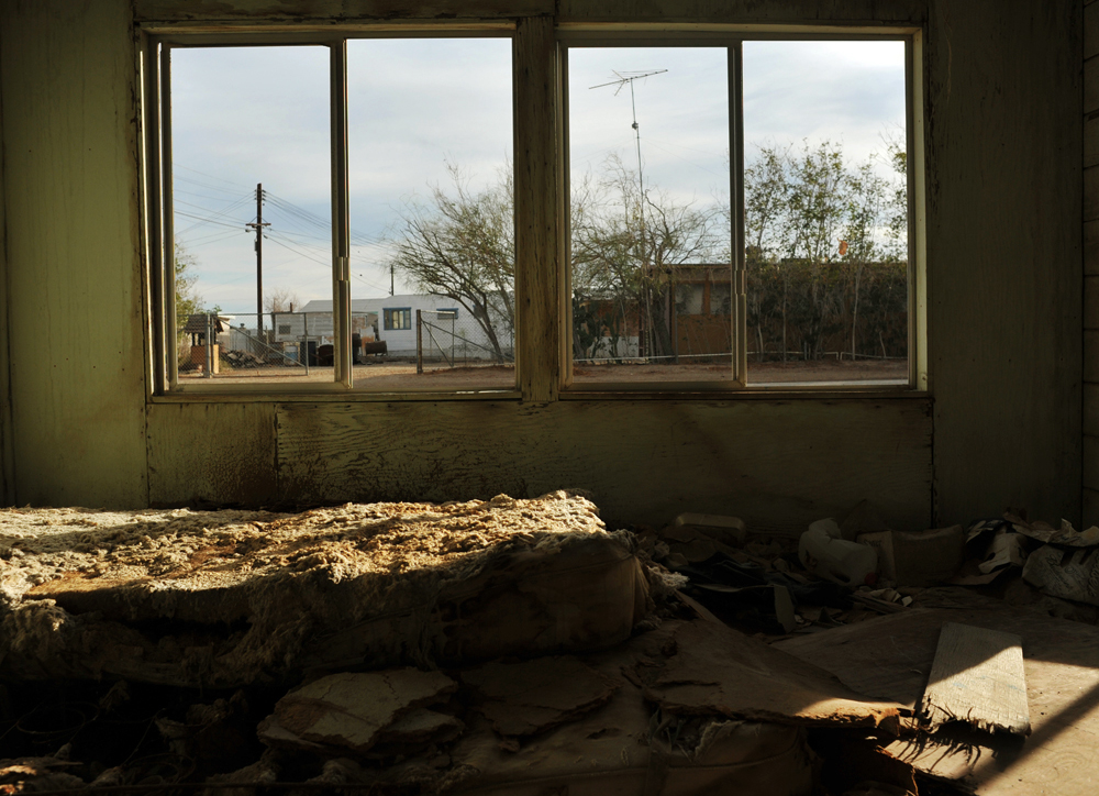 An abandoned house, Bombay Beach.