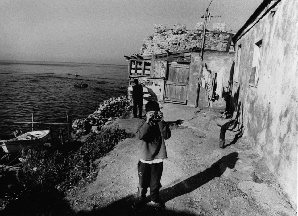 A boy with a toy camera, Sinop.