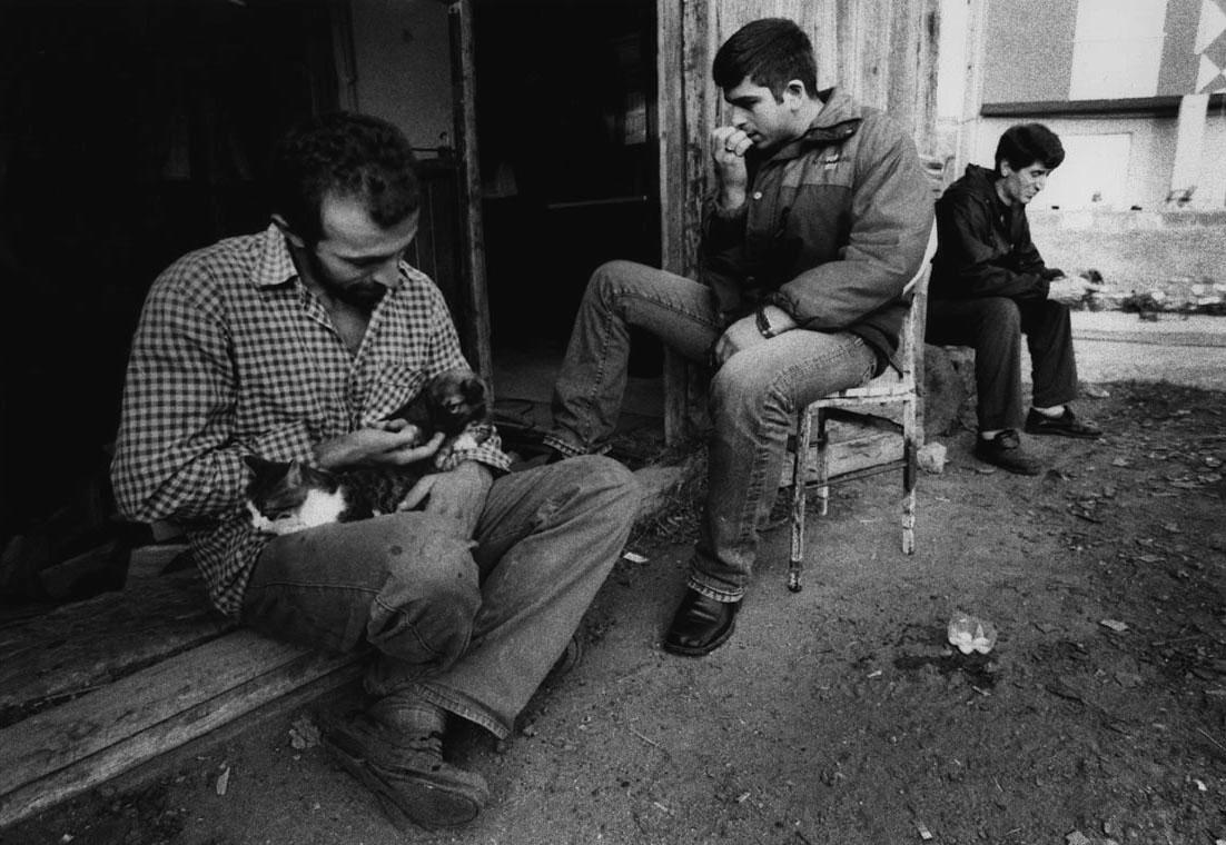 Workers taking an afternoon break whileobserving Ramadan, Sinop.