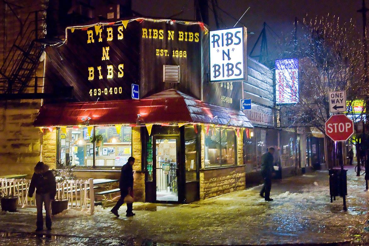 Ribs N Bibs On 53rd Street In Hyde Park After Freezing Rain