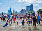 Swimming At Chicago North Side Beach