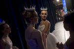 Hyde Park School Of Dance students wait backstage in Mandel Handel during a Nutcracker performance.