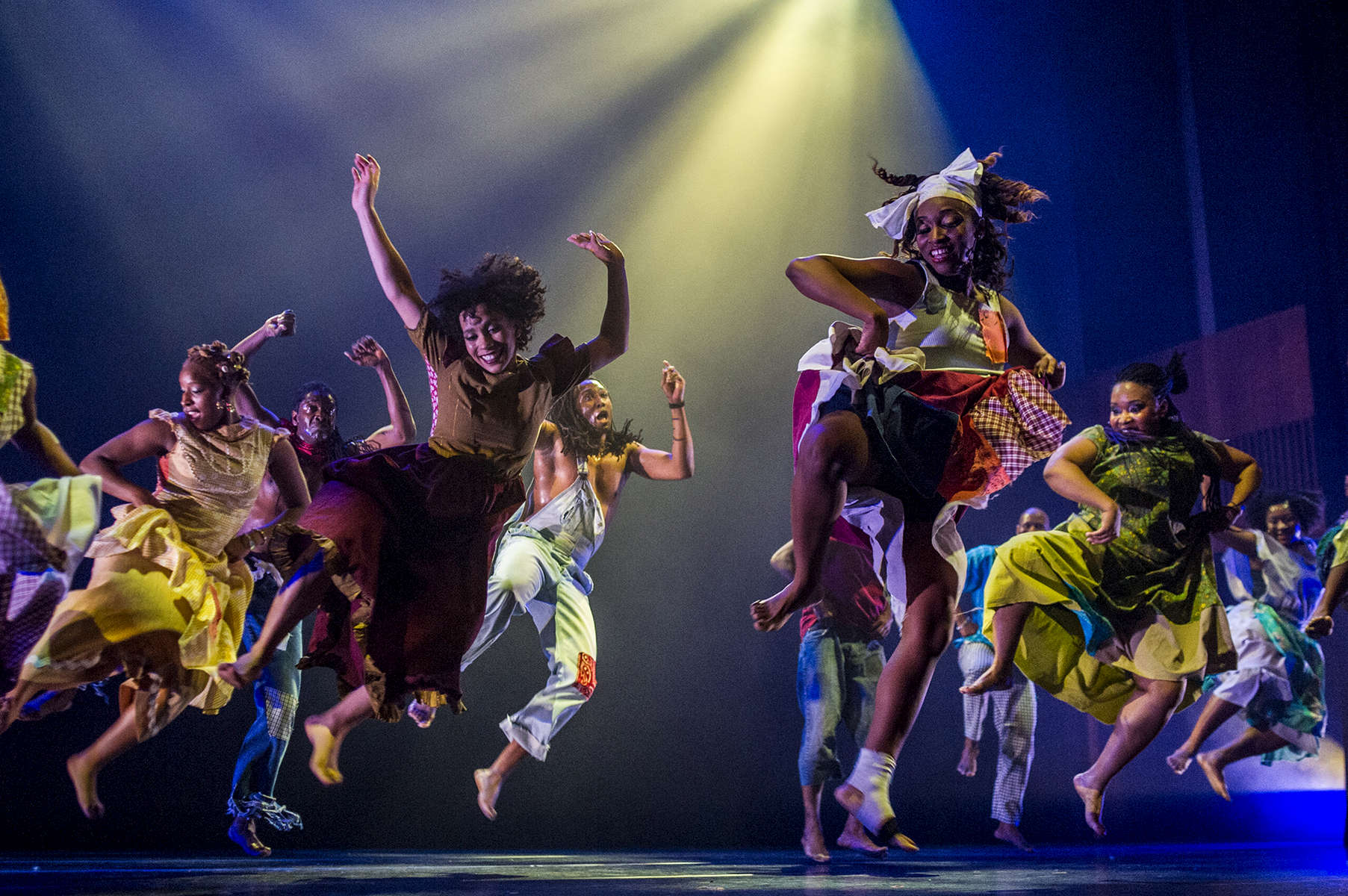 Muntu Dance Theater performs at the Logan Center for the Arts.