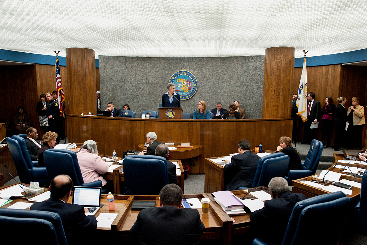 Presiding Over The Cook County Board Of Commissioners
