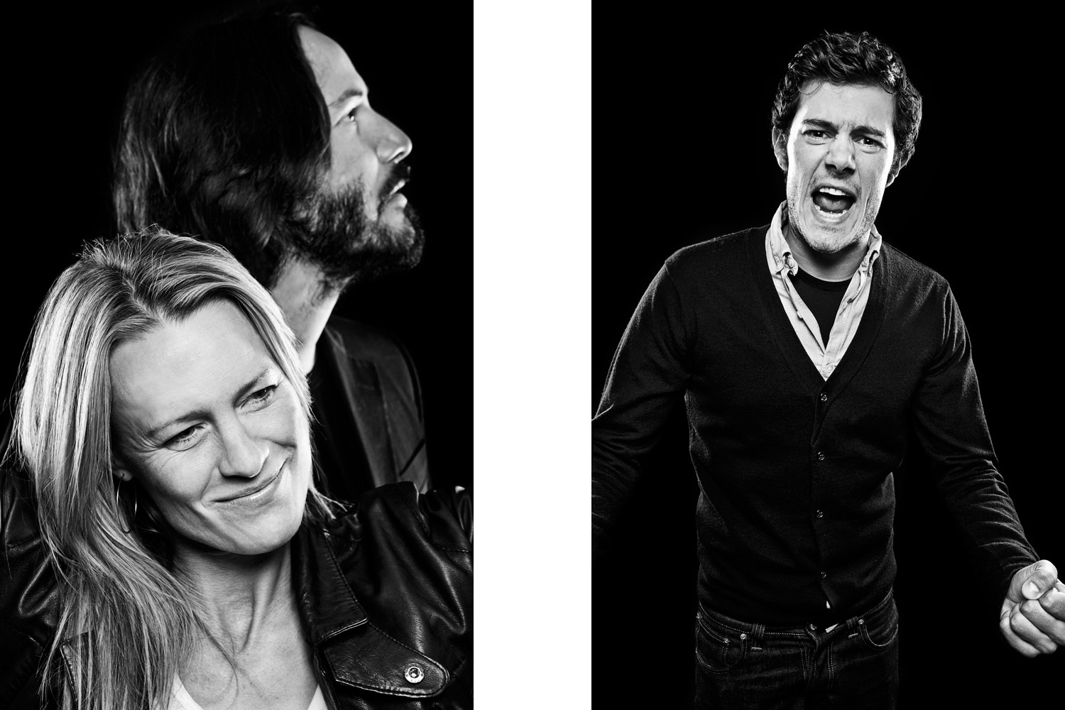 Robin Wright and Keanu Reeves  -  Adam Brody