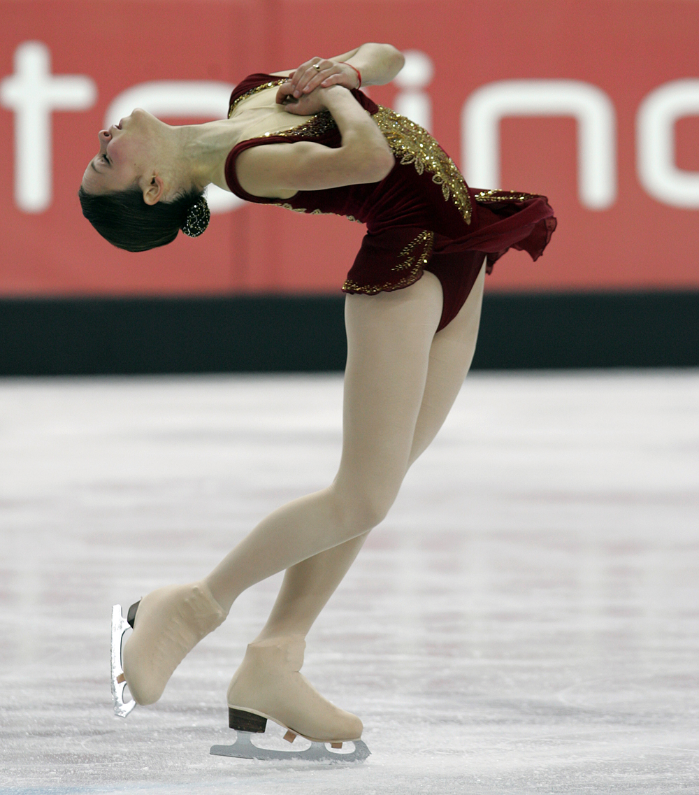 Sasha Cohen during her performance in the Ladies' Free Skating program at the 2006 Winter Olympics in Turin, Italy.