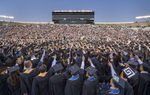 The 2014 Commencement ceremony in the Notre Dame Stadium.