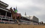 Jockey Edgar Prado guides Barbaro to a 61/2 length victory in the 132d Kentucky Derby.