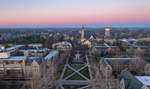 11.28.20; Campus at sunrise. (Photo by Barbara Johnston/University of Notre Dame)
