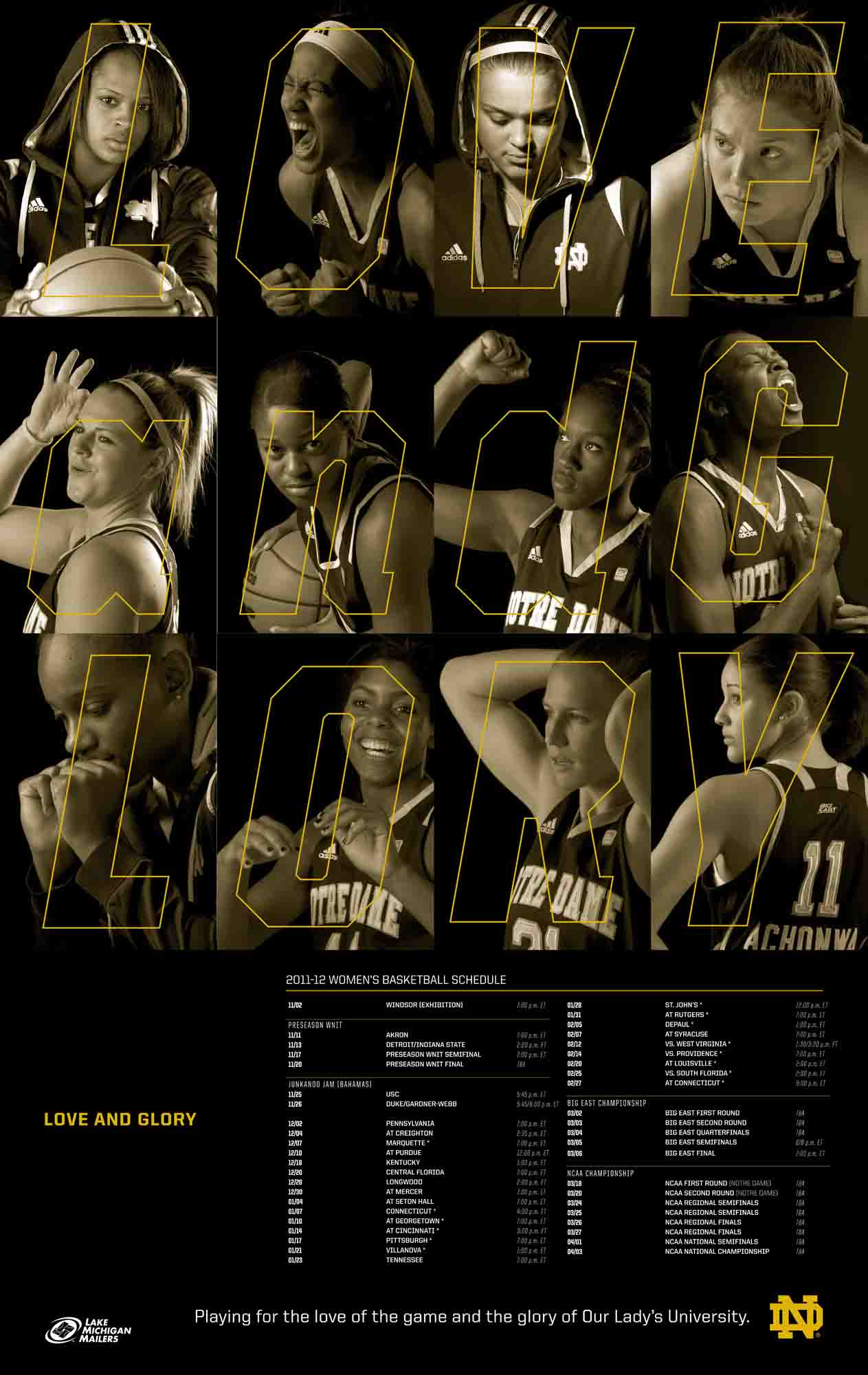 2011-2012 Women's Basketball Poster