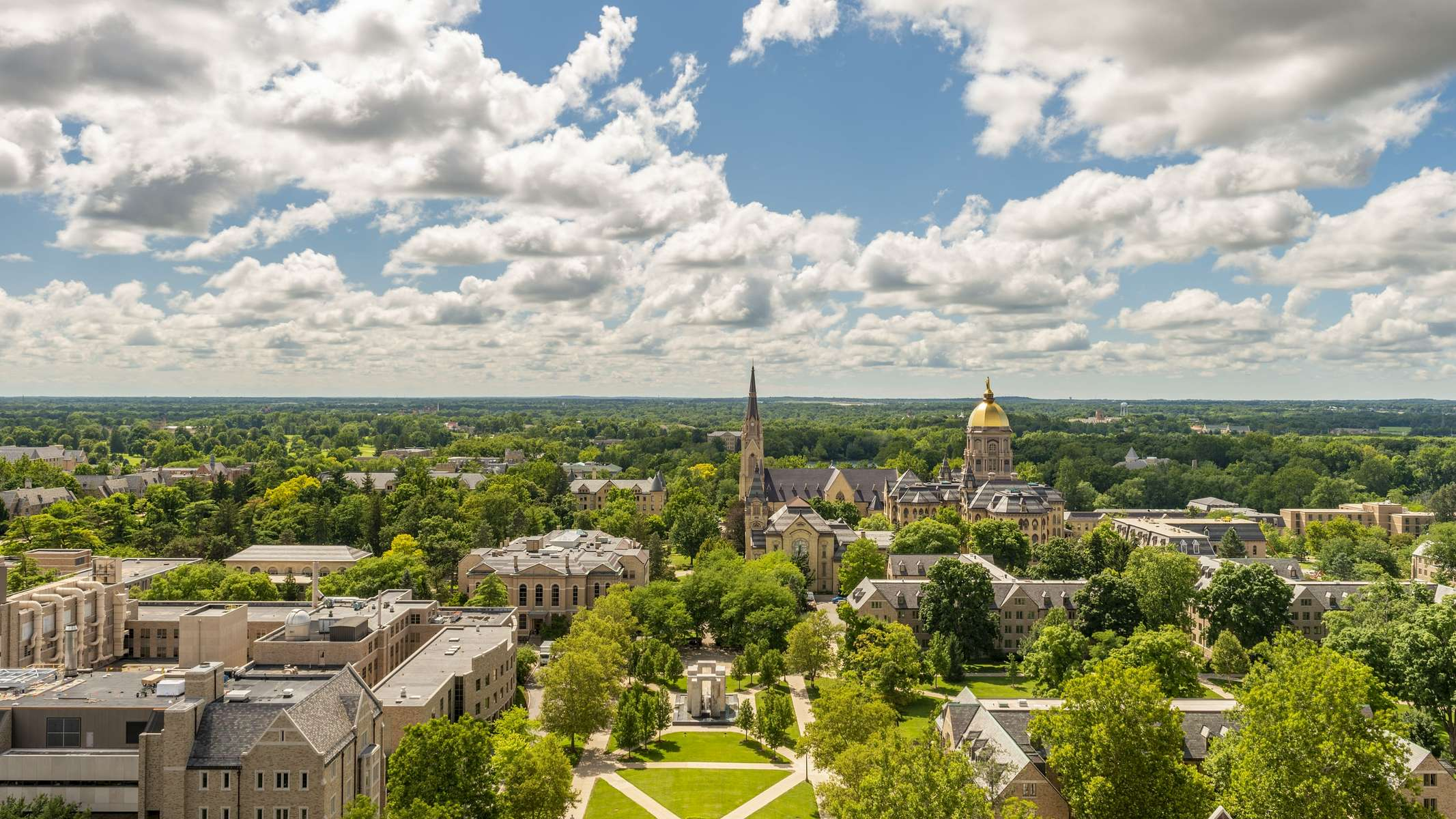 Cloud timelaspe at the University of Notre Dame.