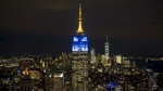 Notre Dame blue & gold colors light up the Empire State Building for the 2018 Shamrock Series football game.