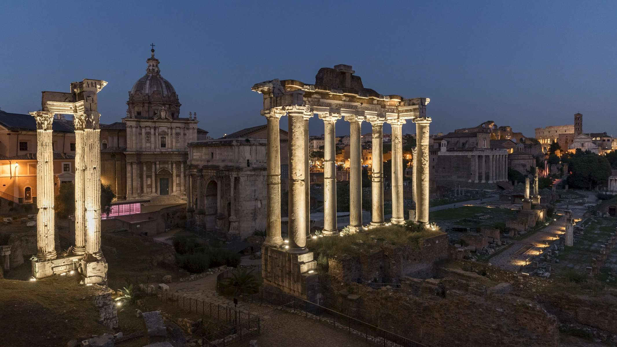 Sunset timelapse at the Roman Forum.