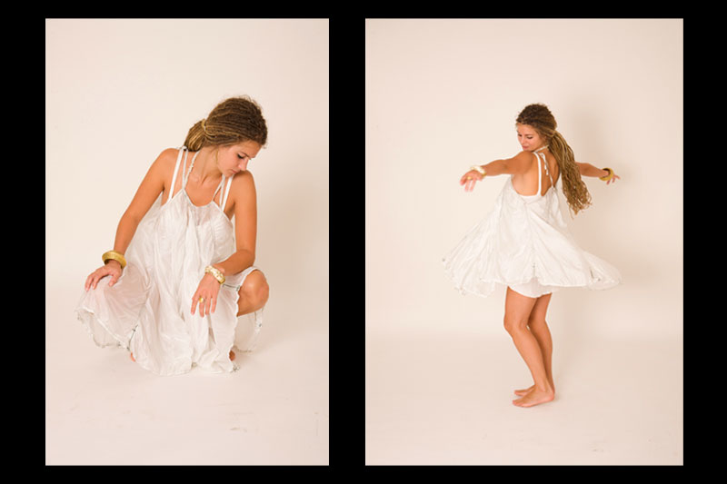 White {quote}short balloon dress{quote}. 340 $Picture by Shlomi Amsallem.