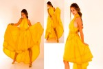 Yellow {quote}Maasai neck dress{quote} 1,200$.Pictures by Shlomi Amsallem.