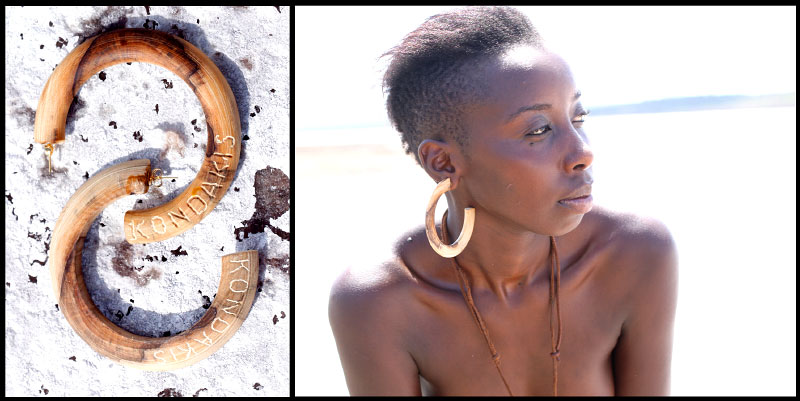 {quote}Round earrings{quote}, wild olive tree. 90 $