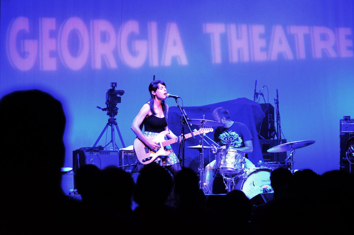 Madeline Adams sings on stage as the first act to play during the reopening of the Georgia Theatre on Monday, August 1, 2011 in Athens, Ga. The Georgia Theatre burned down June 2009 after an electrical fire. The theatre was built in 1889 as a YMCA, served as several worship halls in the 60s before opening up as a concert venue in the 70s.