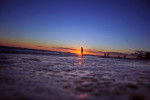 The sun sets over the Gulf of Mexico on Thursday, February 7, 2013 in Destin, Fla.