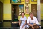 This couple lives near the Pura Penataran Sasih temple. Photo by Jay Graham
