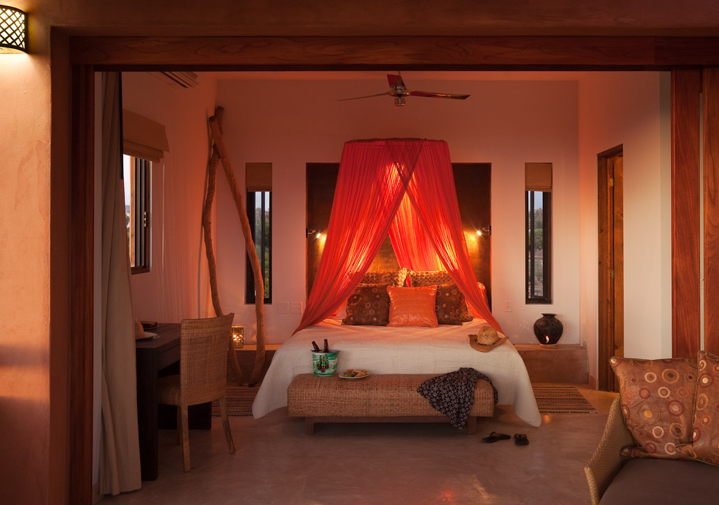 This is the end suite with lots of privacy and views at the Rancho Pescadero near Todos Santos, Baja. It was featured in the February issue of Sunset Magazine in the article Six Dream Trips for Pampering, Photo by Jay Graham