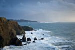 This is a photograph of the Point Bonita Lighthouse shot in middle of January just before sunset. Photo by Jay Graham