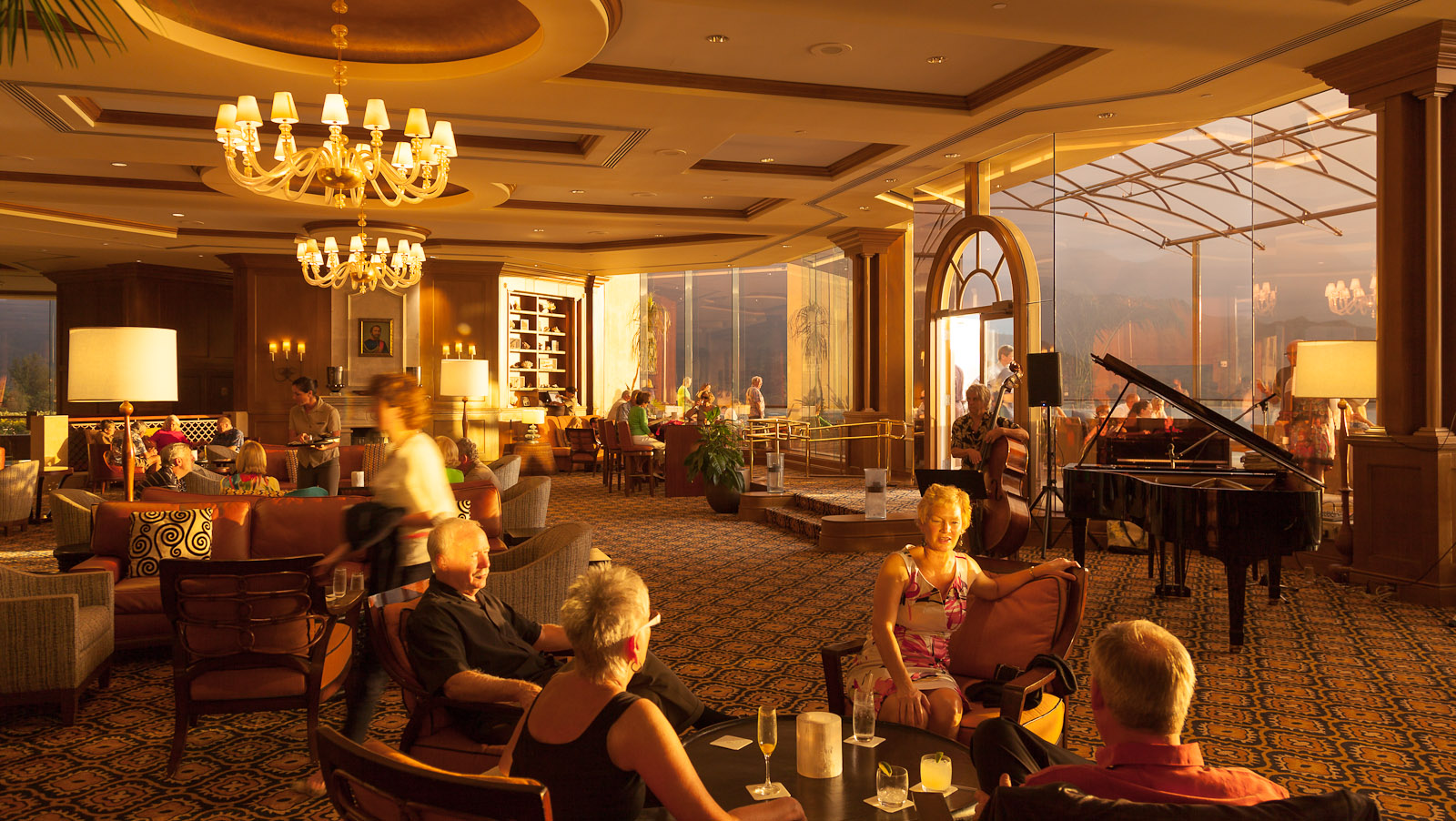 Lobby Bar area of the St. Regis Hotel in Princeville, Kaui, Hawaii. Photo © 2012 Jay Graham, all rights reserved