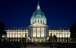 The renovation of San Francisco's 1915 Beaux Art masterpiece included new lighting systems for all public and tenant areas as well as exterior façade lighting. Photo by Jay GrahamLighting design by HLB LightingFixtures by Aromat Lighting DivisionLighting distributor was 16500Photo by Jay Graham