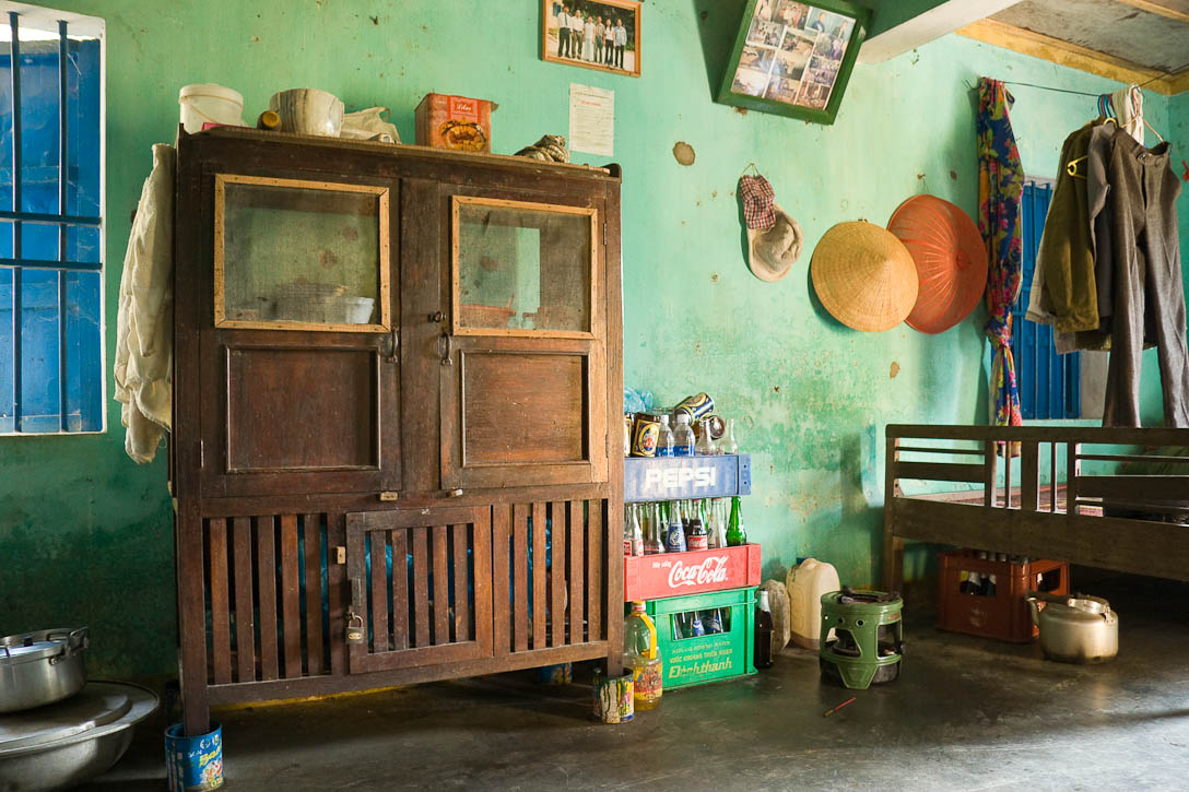 Interior view of a fisherman's cottage near Hoi An, Vietnam. Photo by Jay Graham