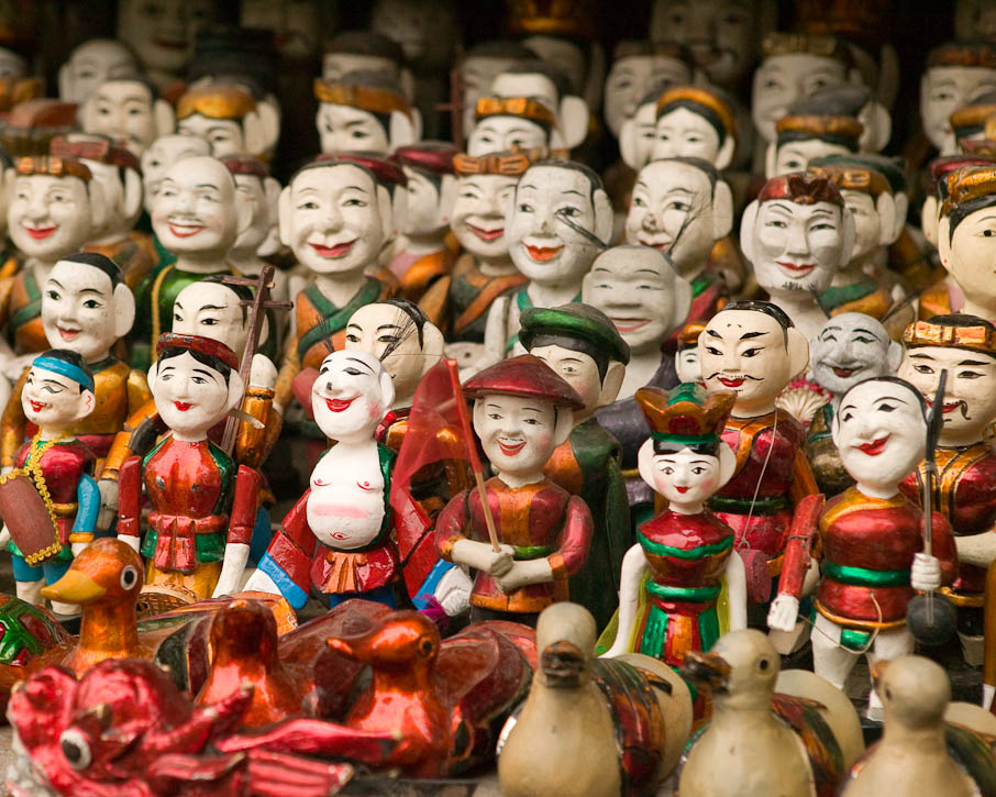 Wooden water puppets at a museum in Hanoi, Vietnam. Photo by Jay Graham