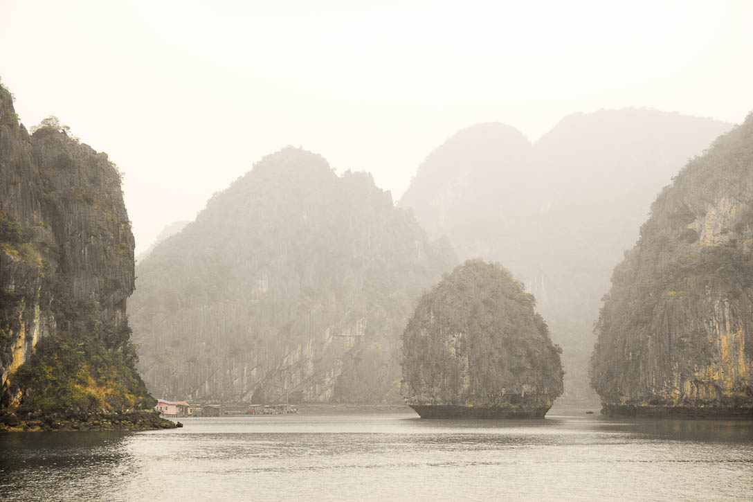 A pink floating house in Halong Bay. Photo by Jay Graham