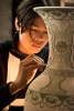 An artist in a ceramics factory near HaNoi, Vietnam. Photo by Jay Graham