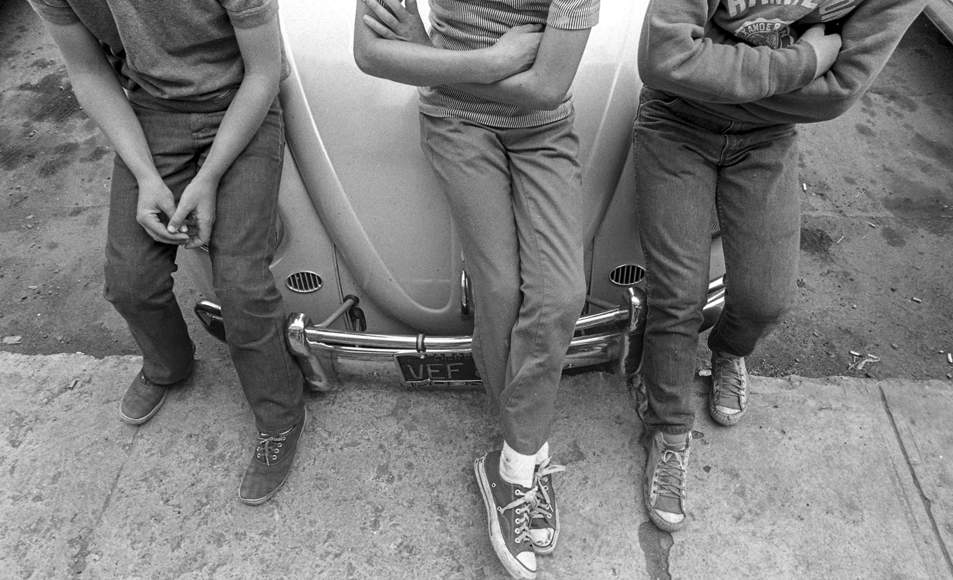 Boy's Sneakers and VW Bug, Aspen, CO