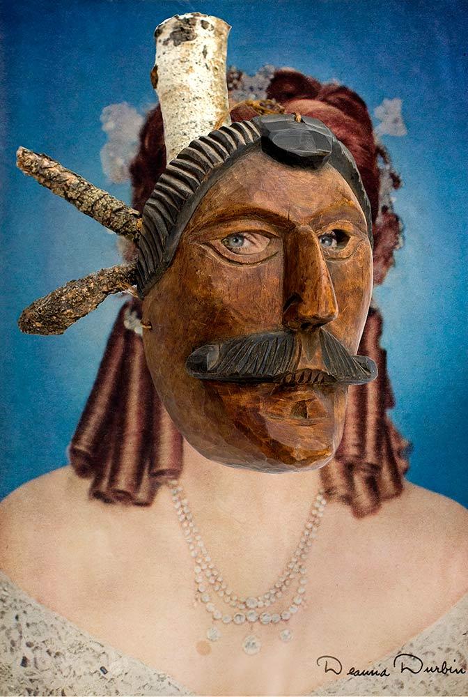 Deanna Durbin wearing Guatemalan Mestizo Mask