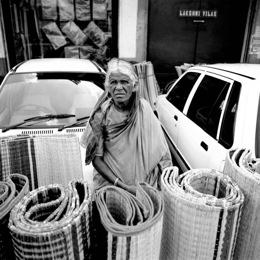 Strawmat Seller, Mysore, India