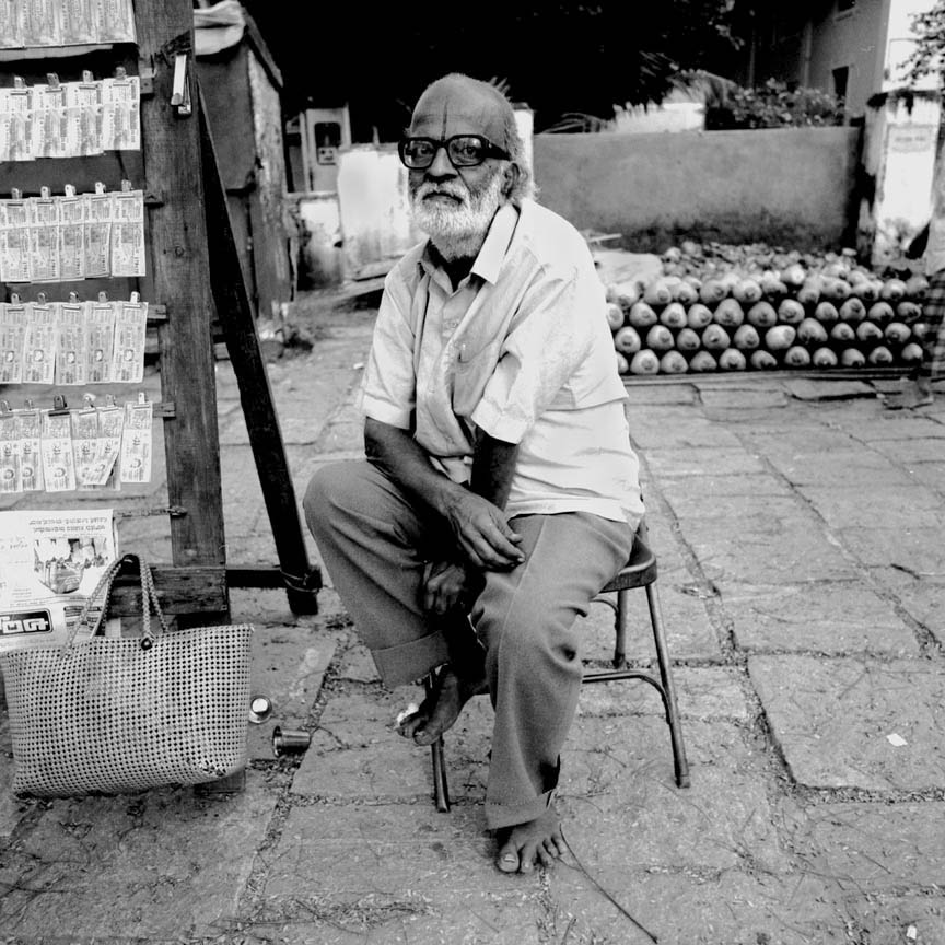 Lottery Ticket Seller, Vontikoppal, India