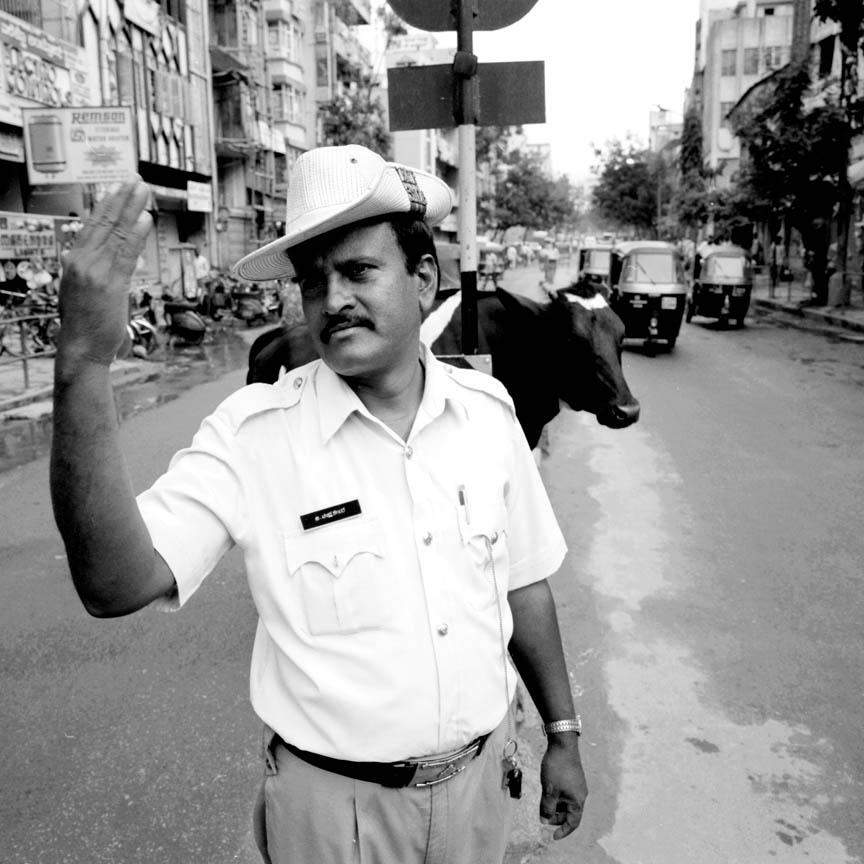 Policeman, Bangalore, India