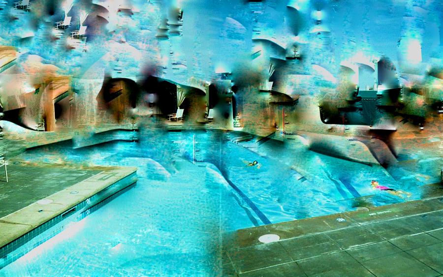 Pool, Manipulated ,Polaroid 669