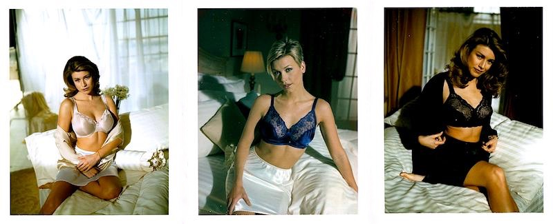 Bras On A Bed, Polaroid Assembly