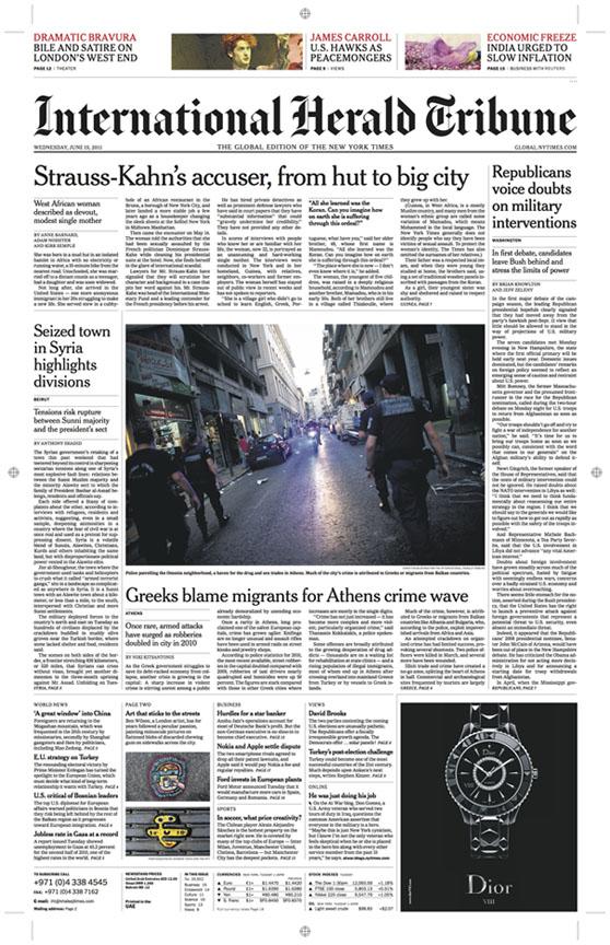 June 15th, 2011Greeks blame migrants for Athens crime waveAthens, Greece
