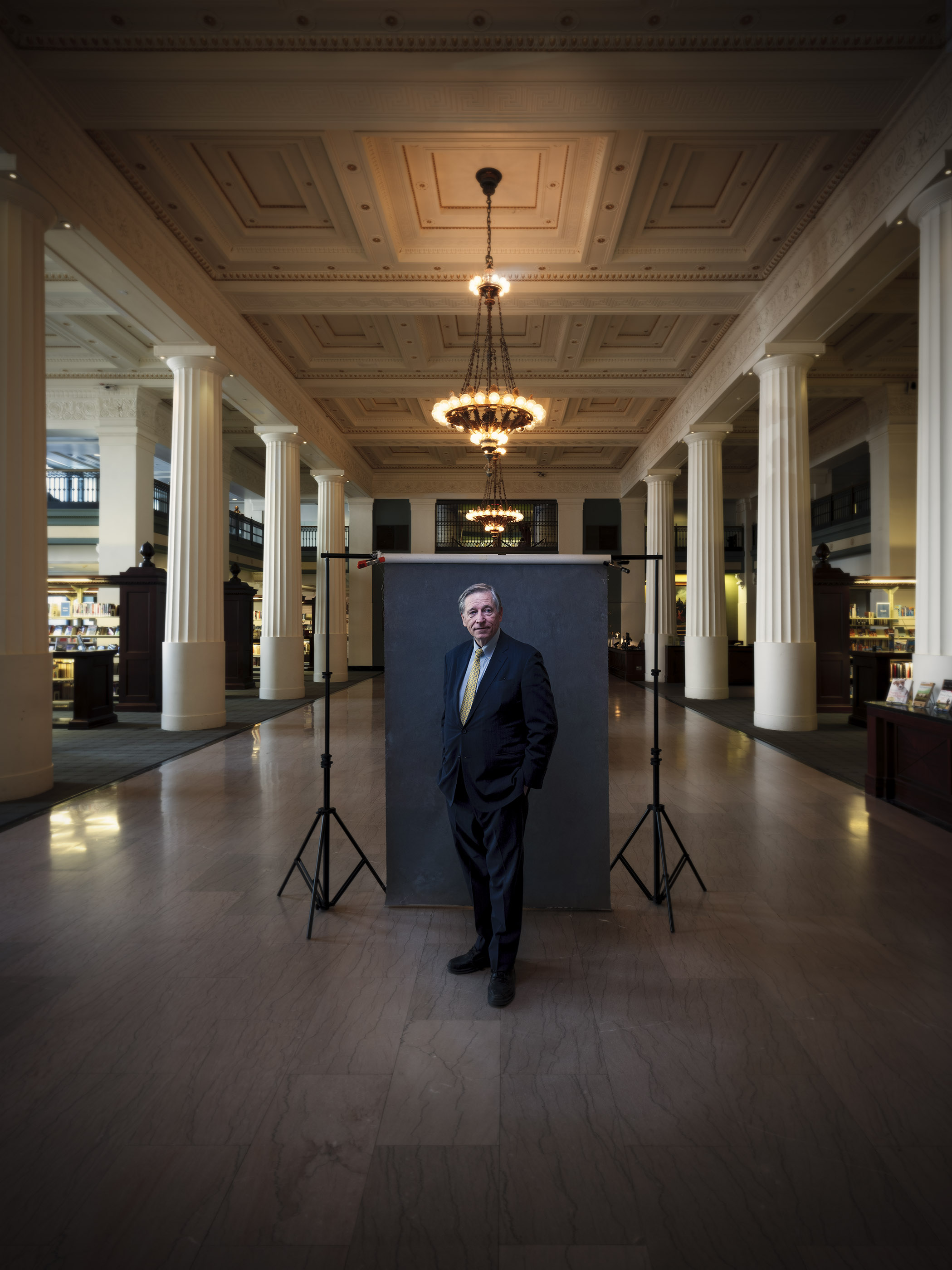 Portrait of Crosby Kemper III, director of the Kansas City Public Library.