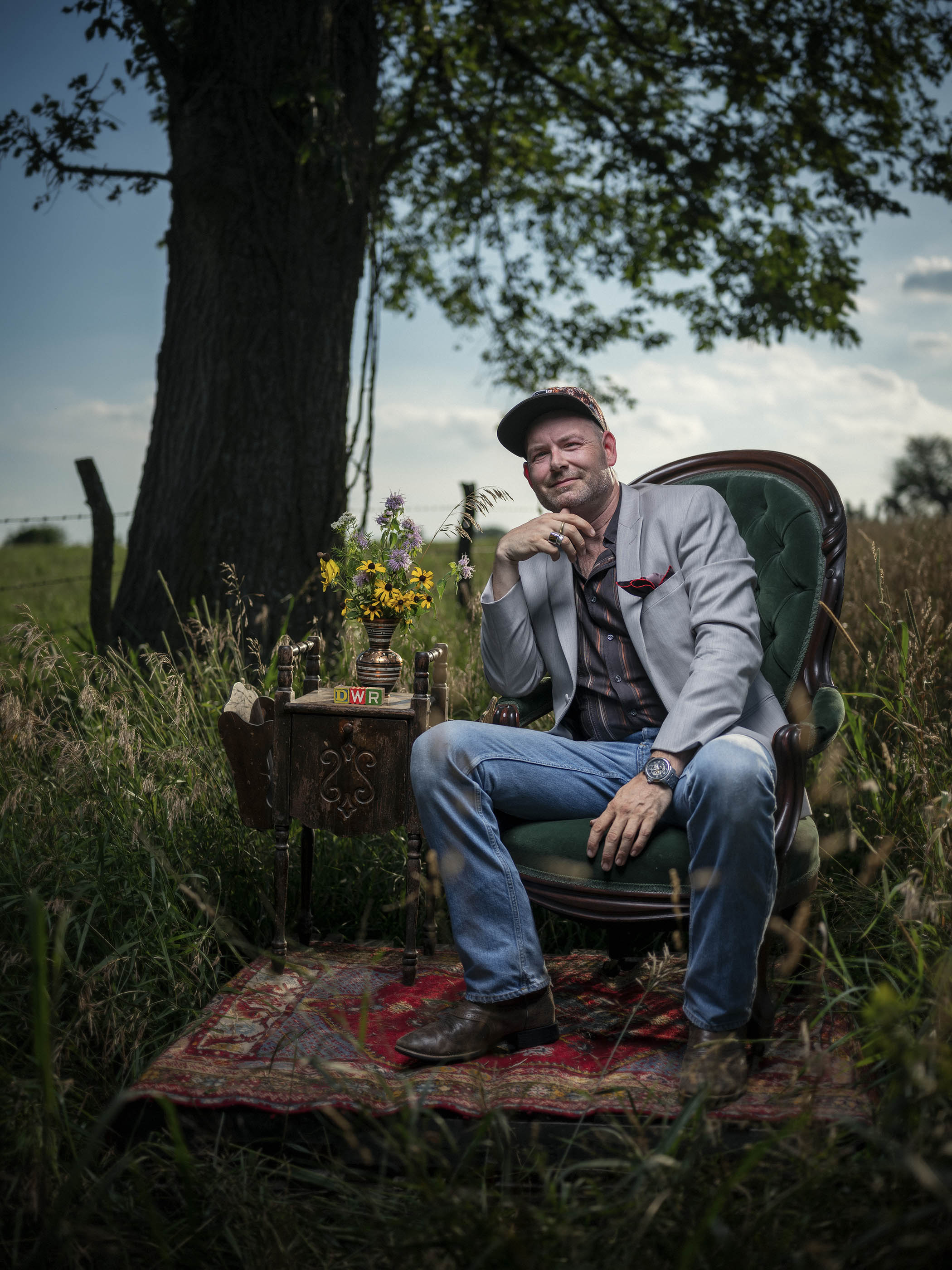 David Wayne Reed at his family farm near Louisburg, KS. Reed is working on a new documentary about the conservation of the endangered tallgrass prairie and its remnants.