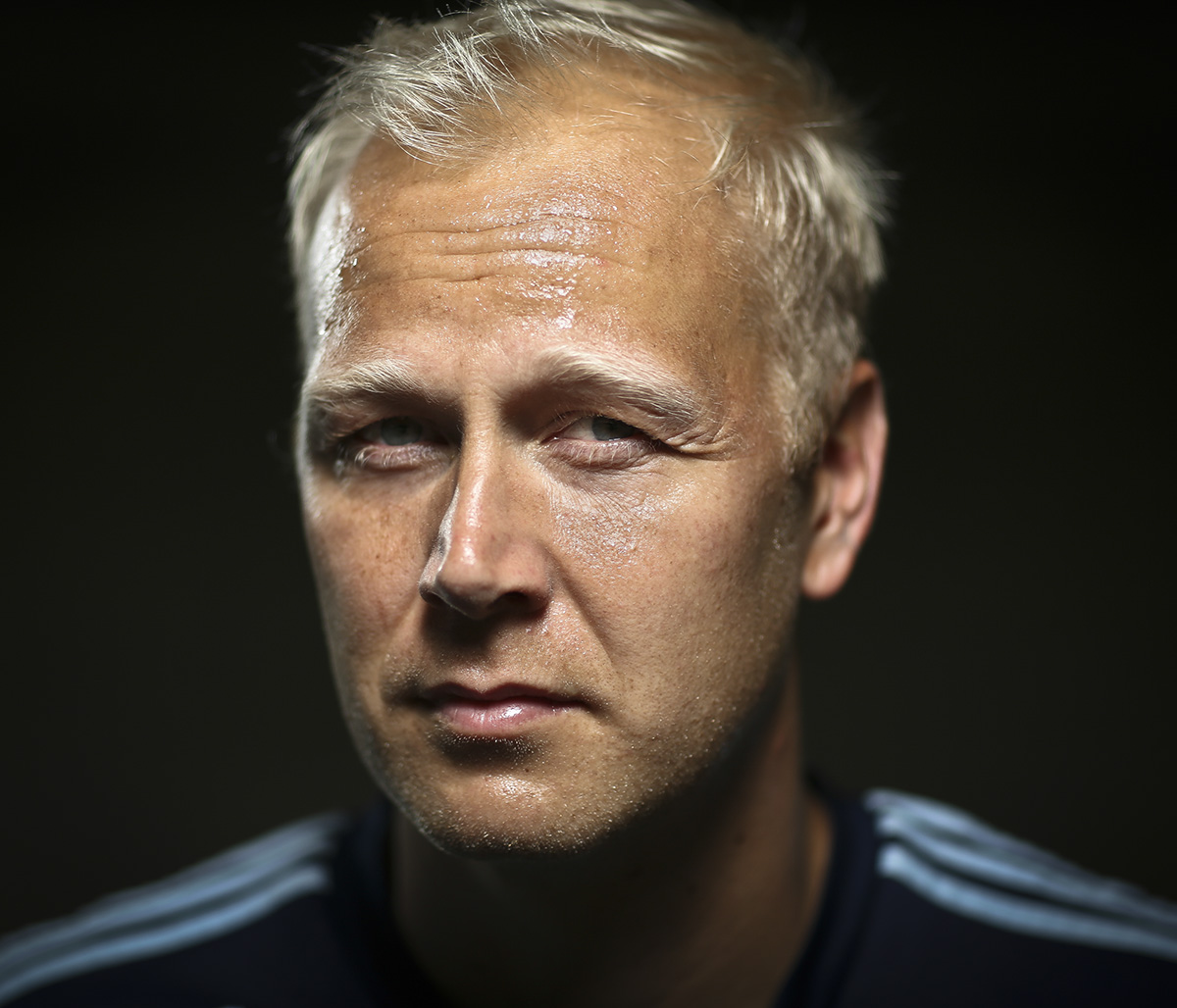 Mag Interview portrait of Jimmy Nielson, goalie for Sporting Kansas City.