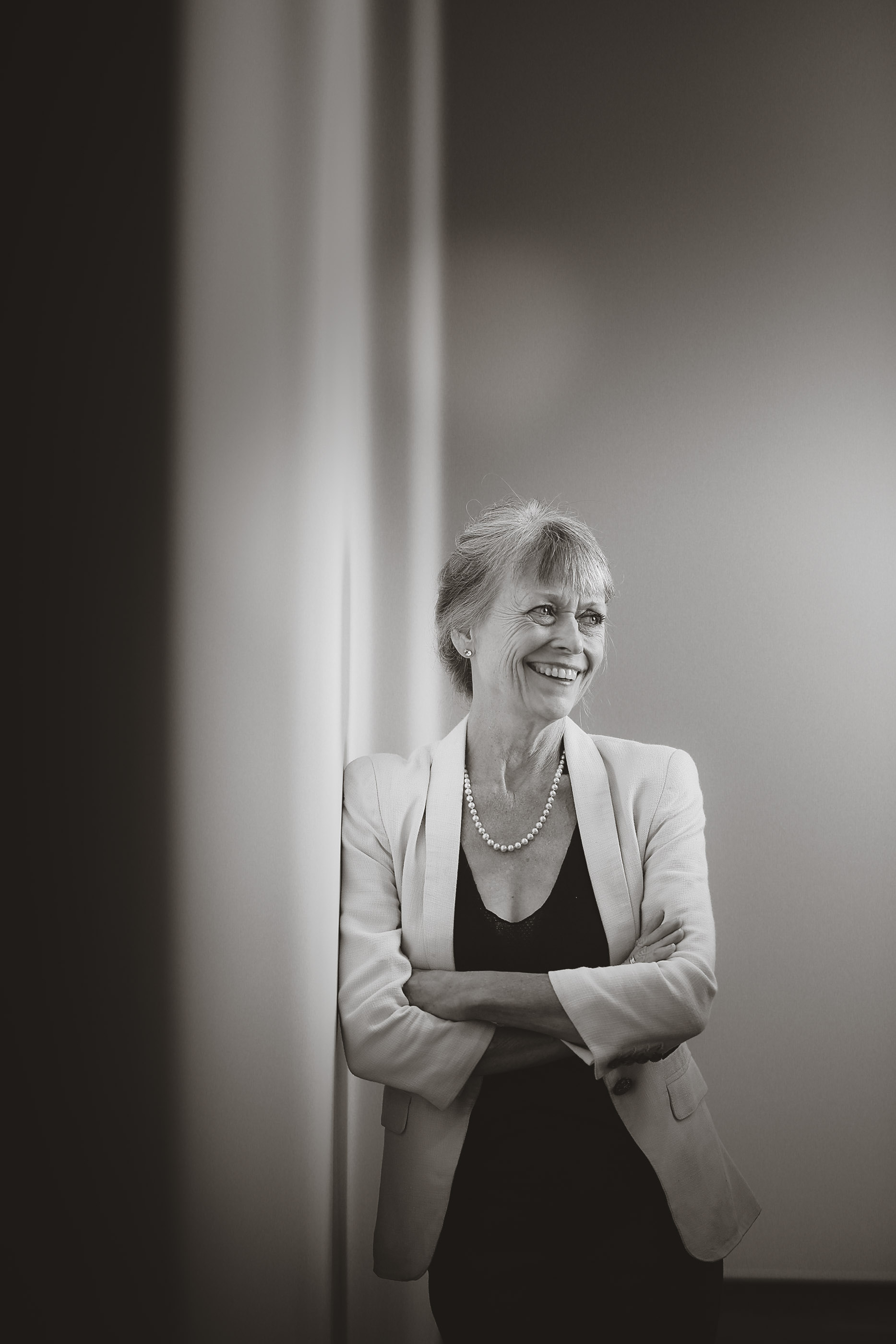 Portrait of Saralyn Reece Hardy, Director at the Spencer Museum of Art in Lawrence, KS.