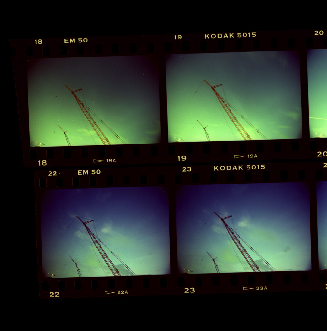 Night exposure using cross processed out dated slide film.