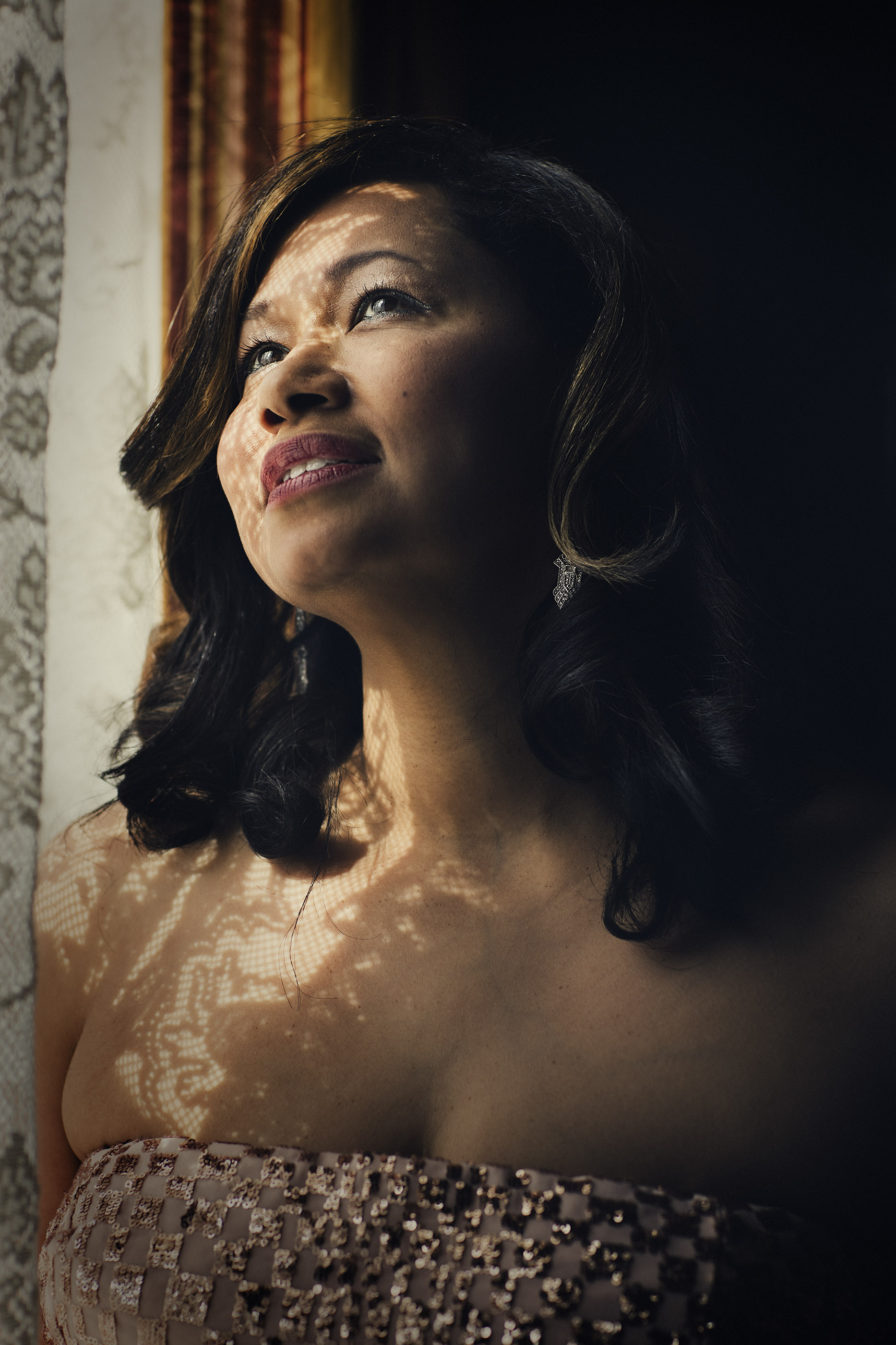 Portrait of singing performer, Vanessa Thomas of Lawrence, KS.