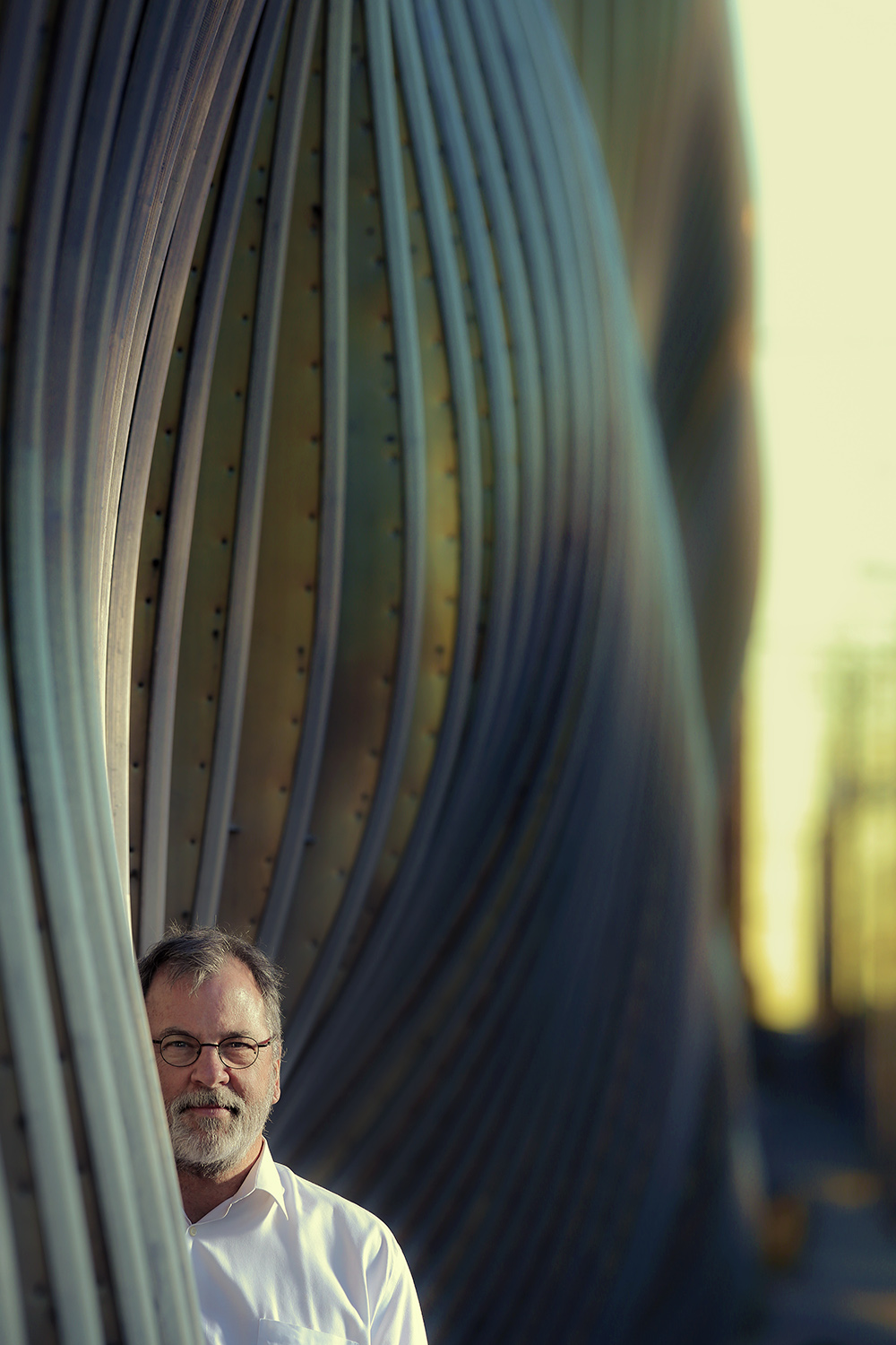 Portrait of Bill Zahner, President and CEO of Zahner architectural metal company in Kansas City