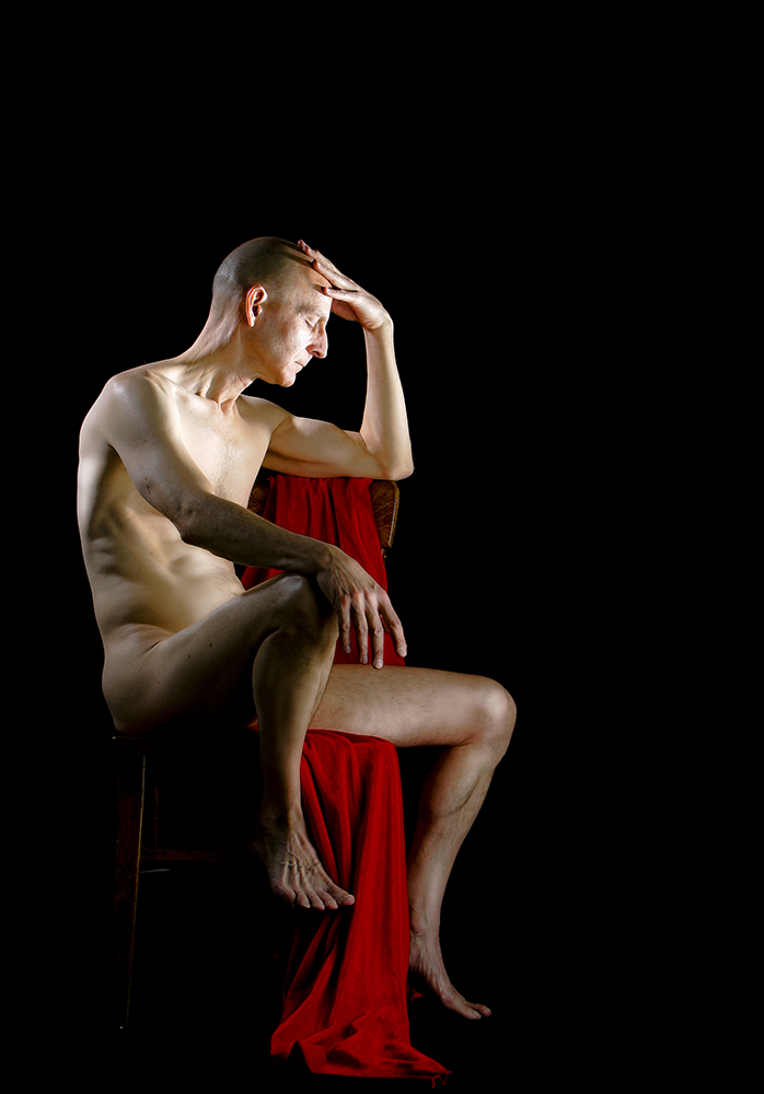 Portrait of nude art model, Kent Van Dusseldorp for The Kansas City Star.